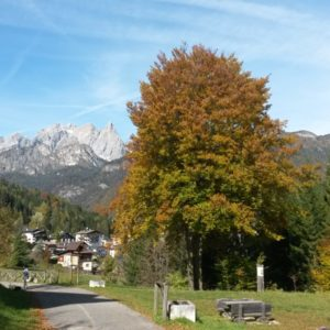 La ciclabile Dolomiti a Calalzo di Cadore