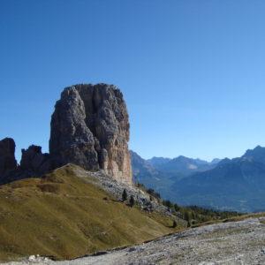 Panorama intorno alle Cinque Torri